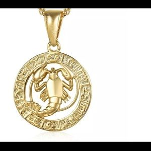 """Cancer Zodiac Sign Gold Filled 18"""" Chain Necklace"""